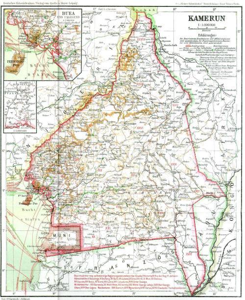 Carte Allemagne Apres Guerre.Grande Guerre Au Cameroun